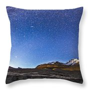 Panorama Of The Columbia Icefields Throw Pillow