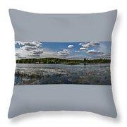 Panorama Of The Lake In Elkino Throw Pillow