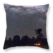 Panorama Of The Southern Night Sky Throw Pillow