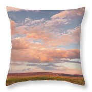 Panorama Of Twilight Clouds Over Tetilla Peak Recreation Area - Cochiti Lake New Mexico Throw Pillow