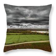 Panorama Of Wakefield's Fields Throw Pillow