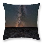 Panorama Point Milky Way Badlands  Throw Pillow