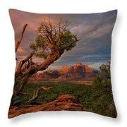Panorama Storm Back Of Zion Near Hurricane Utah Throw Pillow