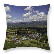 Panorama View Point Of Pai   Throw Pillow