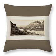 Panorama Von Zermatt Throw Pillow