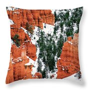 Panorama Winter Storm Blankets Thors Hammer Bryce Canyon Utah Throw Pillow