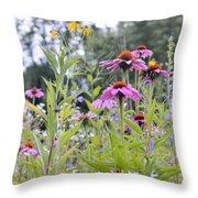 Panoramic Bouquet Throw Pillow