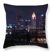 Panoramic Columbus Throw Pillow