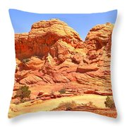 Panoramic Coyote Buttes Landscape Throw Pillow