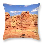 Panoramic Desert Landscape Fantasyland Throw Pillow