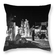 Panoramic Night Throw Pillow