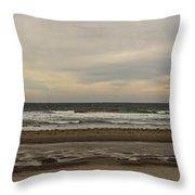 Panoramic Of Nantasket Beach Throw Pillow