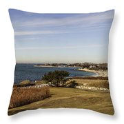 Panoramic Of Woods Hole  Throw Pillow