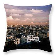 Panoramic Paris Sky.  Throw Pillow