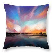 Panoramic Seascape Throw Pillow