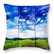 Panoramic Stormy Skies Throw Pillow