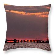 Panoramic Sunset 3-18-2016 V2 Throw Pillow