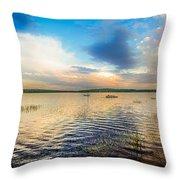 Panoramic Sunset Throw Pillow