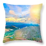 Panoramic Sunset On Mount Evans Throw Pillow