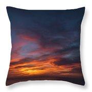 Panoramic Sunset Overtorrey Pines, San Diego Beach, California Throw Pillow