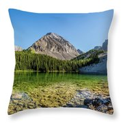 Panoramic View Of Chester Lake Throw Pillow