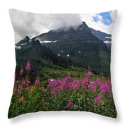 Panoramic View Of 'going To Sun Road' Throw Pillow
