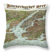 Panoramic View Of New York City And Vicinity - 1912 Throw Pillow
