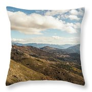 Panoramic View Of Olmi Cappella Valley With In Corsica Throw Pillow