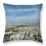 Panoramic View Of Paris From The Top Of The Tower Throw Pillow