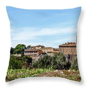 Panoramic View Of Rome Throw Pillow