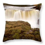 Panoramic Waterfall Manitoba Throw Pillow
