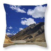 Panrama Of Mountains Ladakh Jammu And Kashmir India Throw Pillow