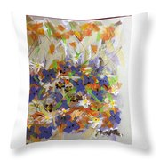 Pansies And Lillies Throw Pillow