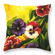 Pansies Or Vuela Mis Pensamientos Throw Pillow