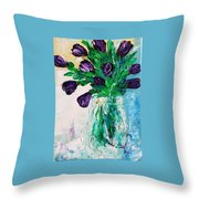 Pansis Vase Throw Pillow