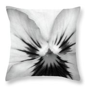Pansy 01 Bw - Thoughts Of You Throw Pillow