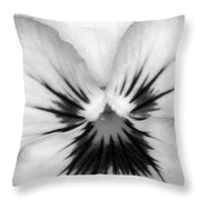 Pansy 02 Bw - Thoughts Of You Throw Pillow