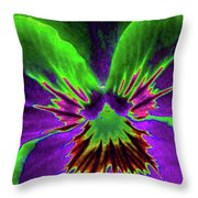 Pansy 02 - Photopower - Thoughts Of You Throw Pillow
