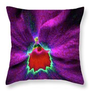 Pansy 03 - Photopower - Thoughts Of You Throw Pillow