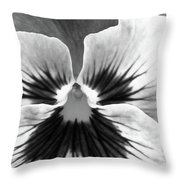 Pansy 06 Bw - Thoughts Of You Throw Pillow