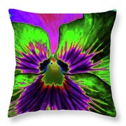 Pansy 06 - Photopower - Thoughts Of You Throw Pillow