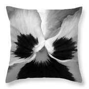 Pansy 09 Bw - Thoughts Of You Throw Pillow