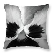 Pansy 10 Bw - Thoughts Of You Throw Pillow