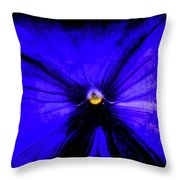Pansy Abstract Grunge Throw Pillow
