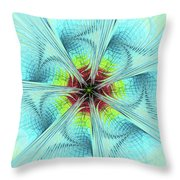 Pansy Fractal Throw Pillow