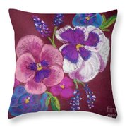 Pansy Grandeur Throw Pillow