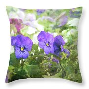 Pansy Impressions Throw Pillow