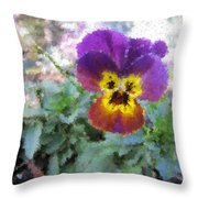 Pansy Perfection Throw Pillow