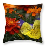 Pansy Play Throw Pillow
