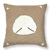 Full Pansy Shell Throw Pillow
